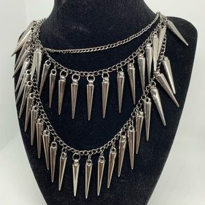 Silver Spike Necklace Chain